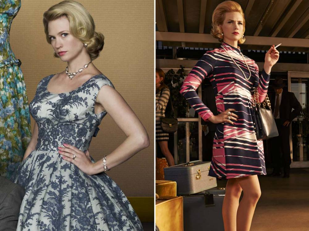 Mad Men fashion: Roger Sterling, Peggy and Megan reflect the changing styles of the 60s