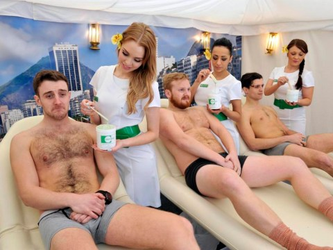 Fancy a Brozilian? Men get waxed for a chance to win a trip to Brazil, realise it hurts a lot