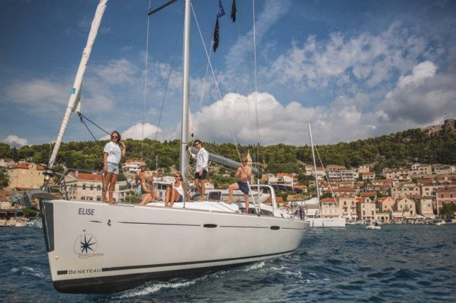 Hit the deck: Drink, swim and eat your way around some of the picturesque islands on the Dalmatian coast (Picture: Michel Molder Photography)