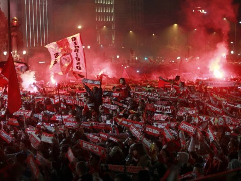 Benfica fans turn Lisbon red as they celebrate 33rd Primeira Liga title in style
