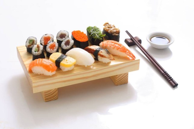 Sushi for lunch - high on omega-3 oils but possibly low in calories (Picture: Alamy)