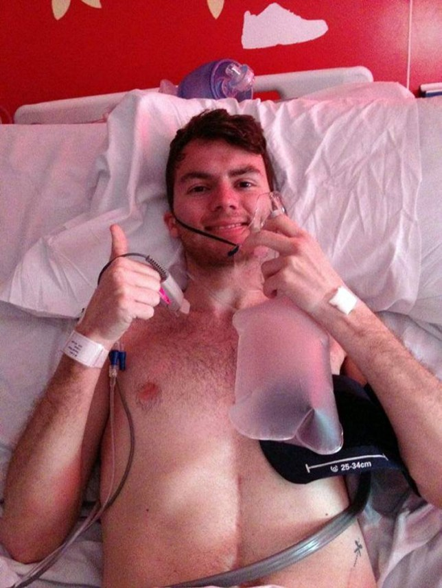 Stephen Sutton's health took a turn for the better after he 'coughed up a tumour' he revealed on his Stephen's Story Facebook page