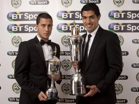 Luis Suarez dedicates PFA Player of the Year award to his Liverpool team-mates