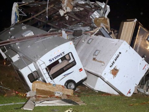 Pictures: Tornadoes strike Arkansas USA