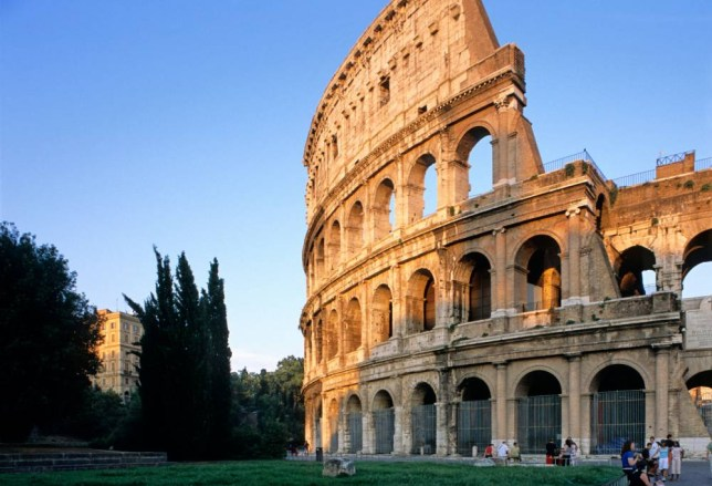 Latin the light shine down... the Colosseum in Rome (Picture: Alamy)