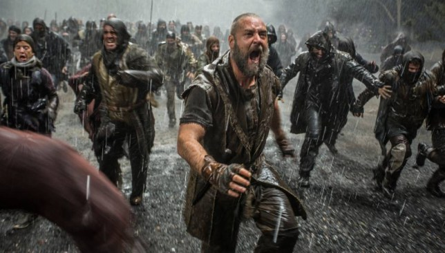 Russell Crowe realises he's left the washing out in Noah (Picture: Paramount)