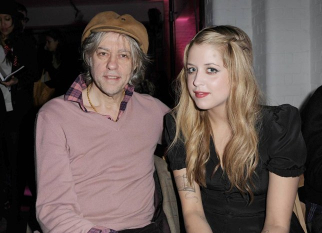 Sir Bob Geldof and daughter Peaches during the Luella show at London Fashion Week.