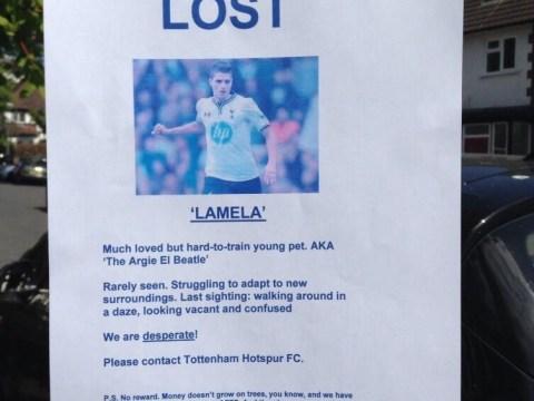 Tottenham fans create missing posters to find flop winger Erik Lamela