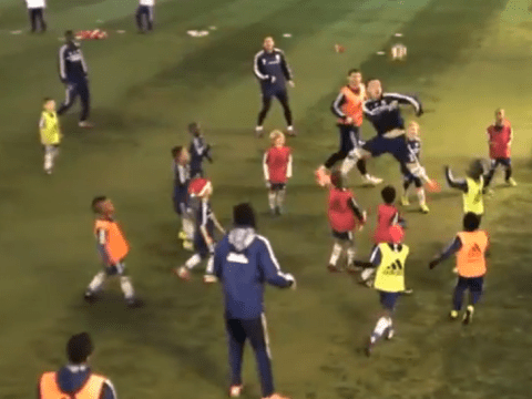 Chelsea's first-team play under-eight side, John Terry treats it like real match
