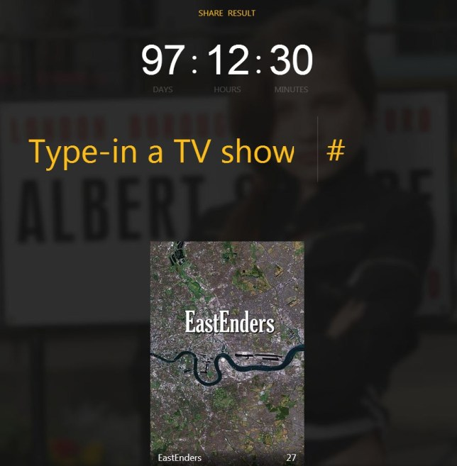 Got a lot of time on your hands? Spend it watching EastEnders (Picture: tiii.me)