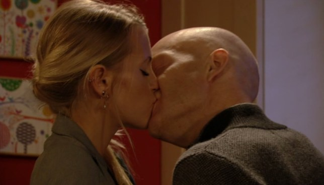 Max and Lucy locked lips yet again (Picture: BBC)
