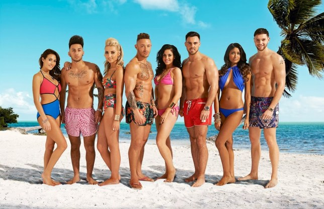 Chloe Goodman, Marco Alexandre, Emily Gillard, Ashley Cain, Vicky Pattison, Liam Lewis , Farah Sattaur, Jack Lomax, - Ex On The Beach (Picture: MTV)
