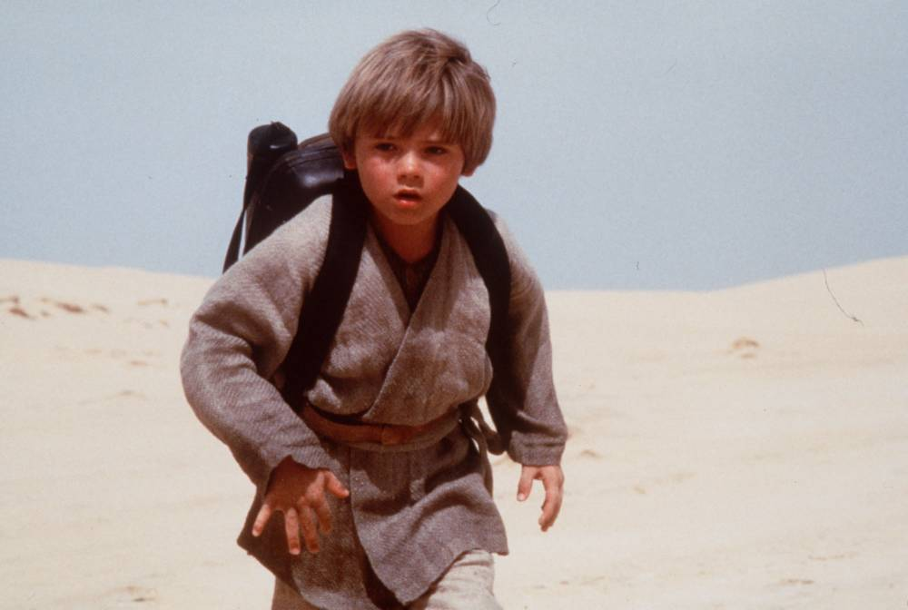"STAR WARS ...Jake Lloyd, who portrays Anakin Skywalker in ""Star Wars: Episode 1 _ The Phantom Menace,"" is pictured in this still photograph from the movie, which scheduled to appear in theaters May 19, 1999. (AP Photo/Keith Hamshere)...A...ENT"