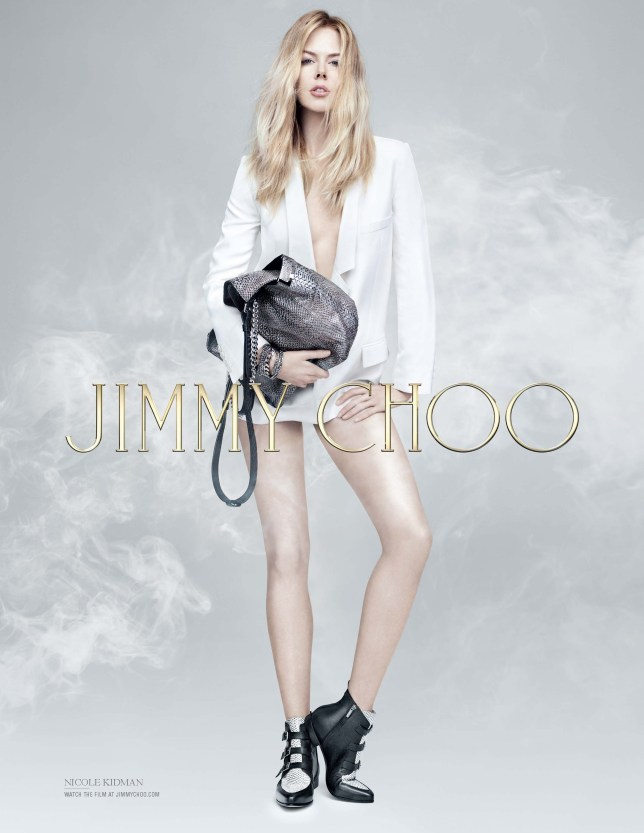 Nicole stars in the pre-fall 2014 ad campaign for Jimmy Choo (Picture: Jimmy Choo)