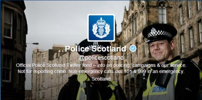 Police Scotland were keen to make a point (Picture: Twitter)