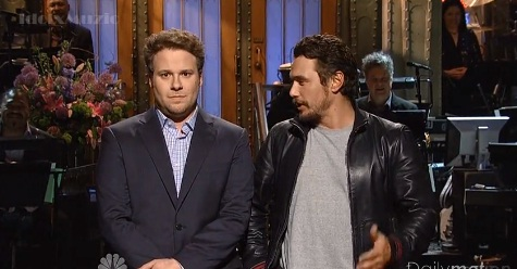 Seth Rogen makes fun of James Franco's Instagram teen fan flirting on Saturday Night Live