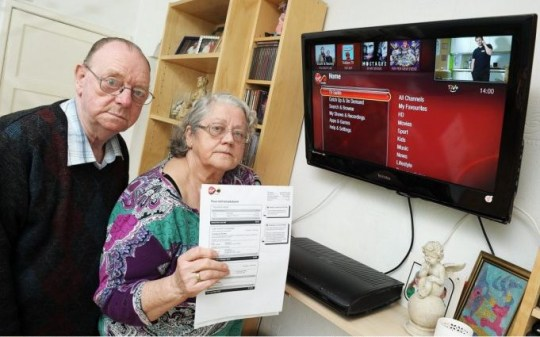 Virgin Media: Ann and Ron Hayward refuse to pay bill in TV porn row