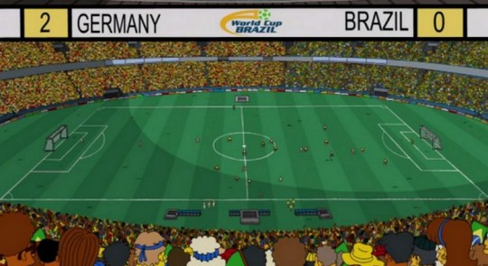 Germany beat Brazil in The Simpsons World Cup final (Picture: YouTube)