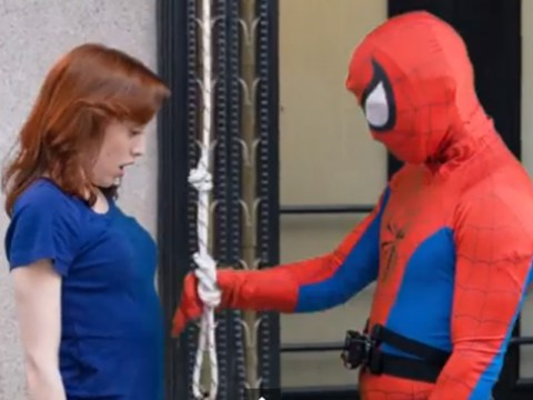Real-life Spider-man swings into action in New York – except it's an April Fool's prank