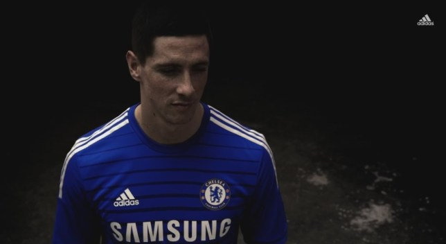Fernando Torres models Chelsea's new shirt (Picture: Adidas)