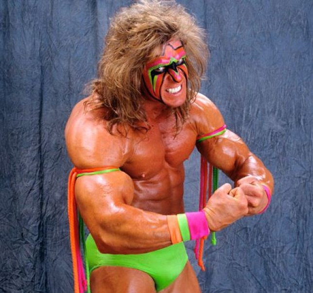 Tassel-tastic... The Ultimate Warrior (Picture: WWE)