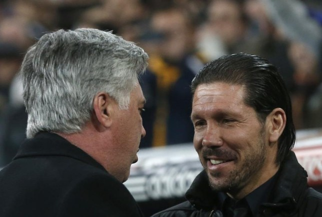 Which of Carlo Ancelotti, left, and Diego Simeone be all smiles on Saturday? (Picture: Reuters)