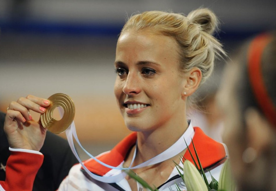Lynsey Sharp finally receives her European gold medal in January (Picture: Getty Images)