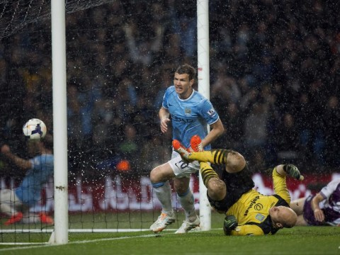 Edin Dzeko proved his worth to Manchester City against Aston Villa as they close in on Premier League title