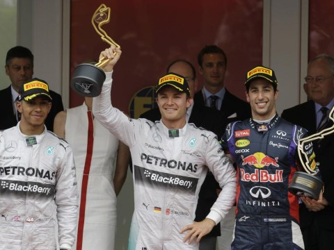 Sulky Lewis Hamilton snubs Nico Rosberg after Mercedes one-two