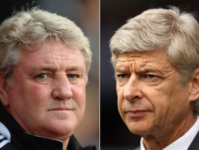 FILE PHOTO - EDITORS NOTE: COMPOSITE OF TWO IMAGES - Image Numbers 187473584 (L) and 142159117) In this composite image a comparison has been made between Steve Bruce manager of Hull City and Arsene Wenger Manager of Arsenal. Arsenal and Hull City meet in the FA Cup Final on May 17,2014 at Wembley Stadium, London,England. ***LEFT IMAGE*** SOUTHAMPTON, ENGLAND - NOVEMBER 09: Hull City manager Steve Bruce looks on during the Barclays Premier League match between Southampton and Hull City at St Mary's Stadium on November 9, 2013 in Southampton, England. Getty Images/Getty Images