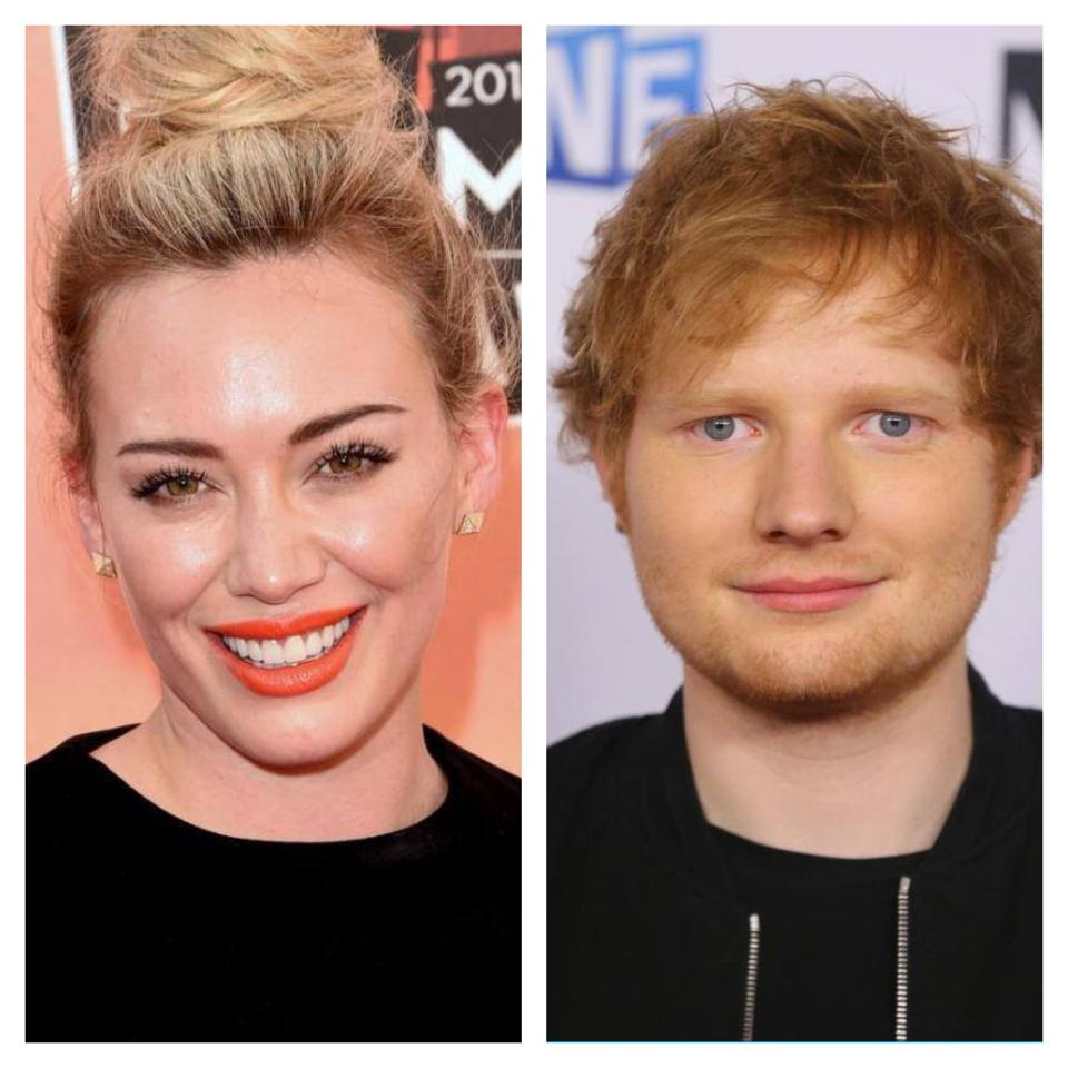 Hilary Duff and Ed Sheeran working together