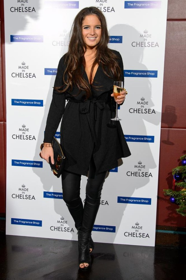 Binky' Felstead attends the Made in Chelsea perfume launch at Raffles on December 9, 2013 in London, England.