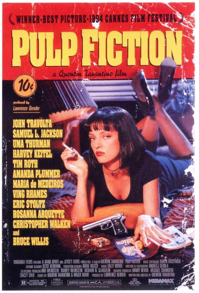 Pulp Fiction directed by Quentin Tarantino