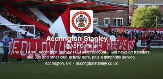 Accrington Stanley troll Greg Dyke's Premier League B team