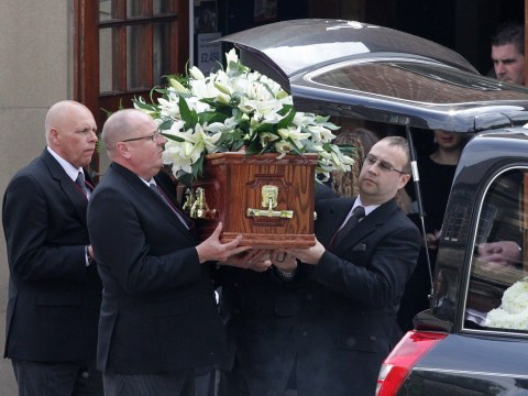 Funeral of stabbed schoolteacher Ann Maguire at  the Church of The Immaculate Heart of Mary in Leeds