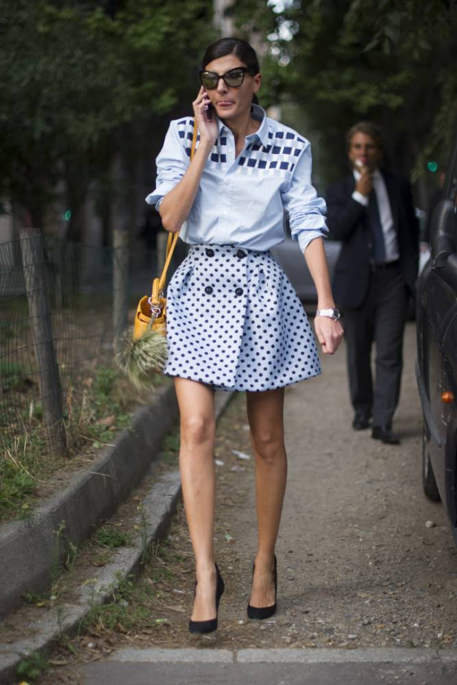 MILAN, ITALY - SEPTEMBER 19:  Giovanna Battaglia seen on the streets of Milan on September 19, 2013 in Milan, Italy.  (Photo by Timur Emek/Getty Images)