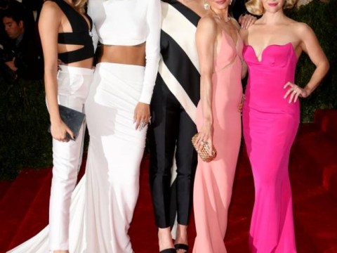 Bum fight on red carpet: Cara outflanks Stella as A-listers line up to squeeze Rihanna's bottom