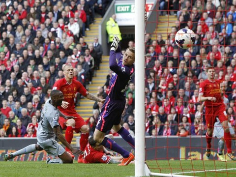 Martin Skrtel slices past Simon Mignolet to dent Liverpool's title hopes