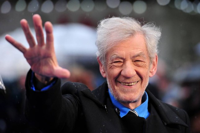 British actor Ian McKellan arrives for the UK premiere of 'X-Men Days of Future Past' in central London, on May 12, 2014. AFP PHOTO / CARL COURTCARL COURT/AFP/Getty Images