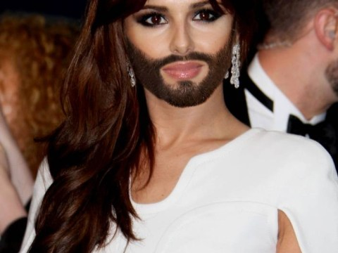 Proof Conchita is the new celebrity style icon: Cheryl Cole, Victoria Beckham and Kate Middlton model the bearded lady look