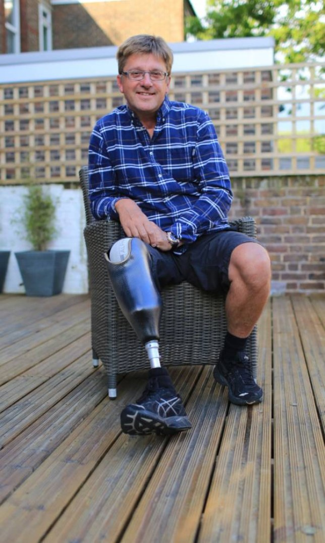 Lucky to be alive: Cameraman Noel Greaves-Lord (Picture: Supplied)