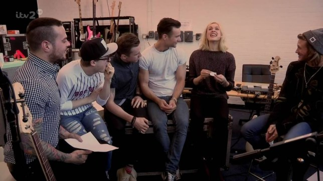 Fearne and McBusted play tattoo roulette