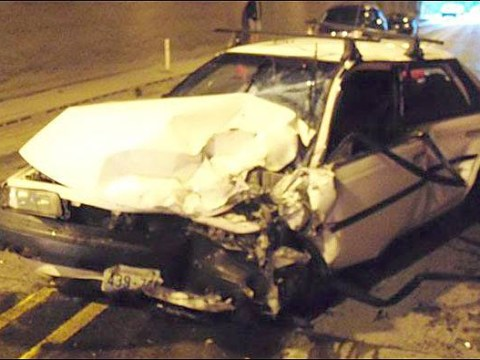 Driver holding breath in tunnel passes out, causes crash
