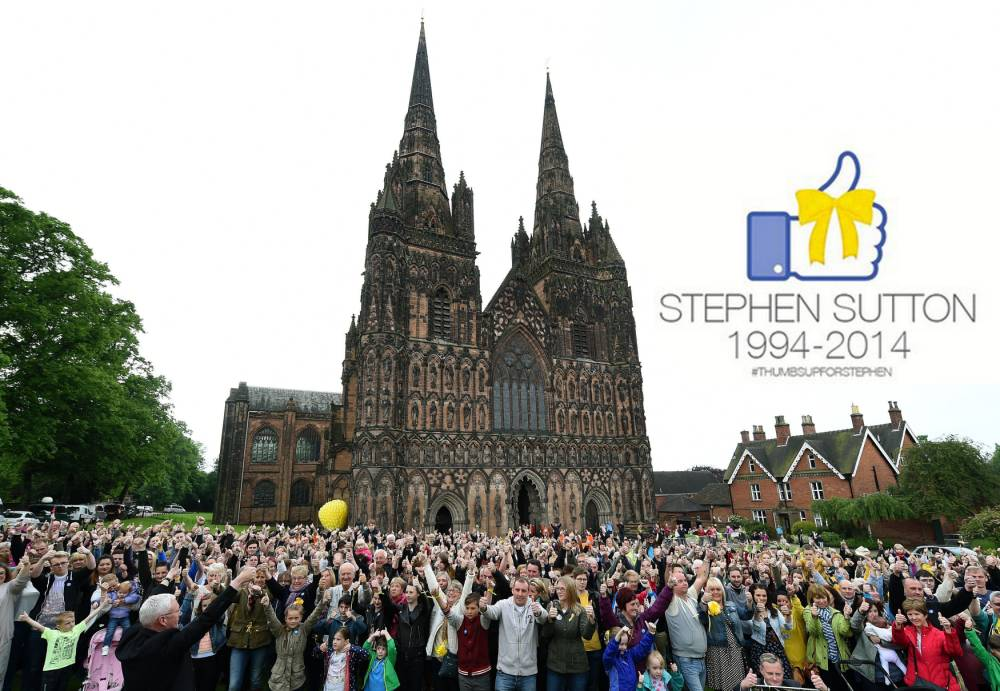 #ThumbsUpForStephen: Thousands gather to remember Stephen Sutton ahead of private funeral
