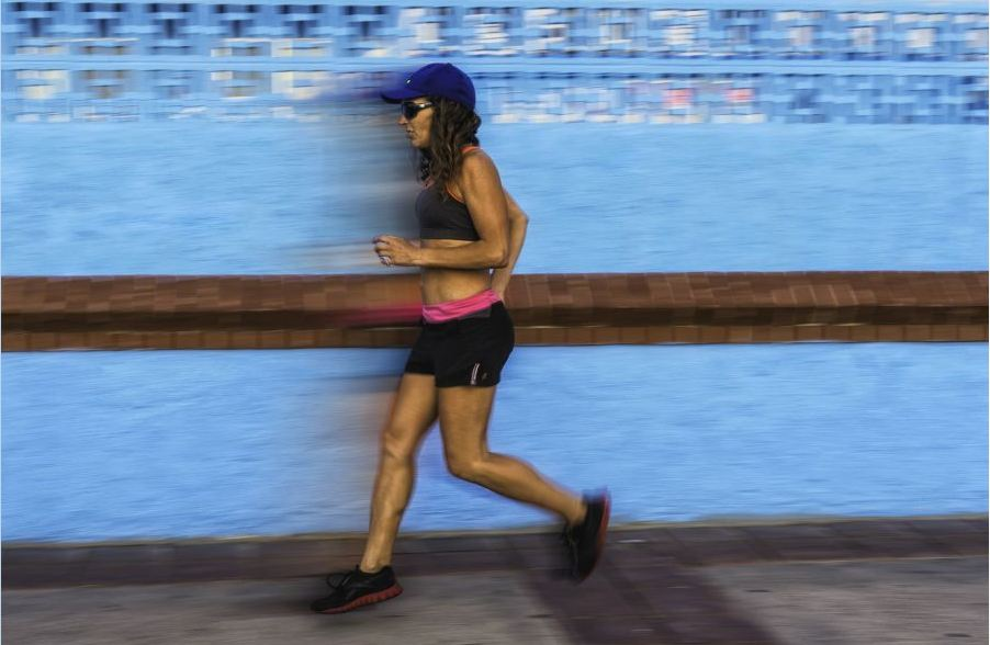 The athlete has been told the only way she can continue running is backwards (Picture: Incredible Features / Barcroft Media)