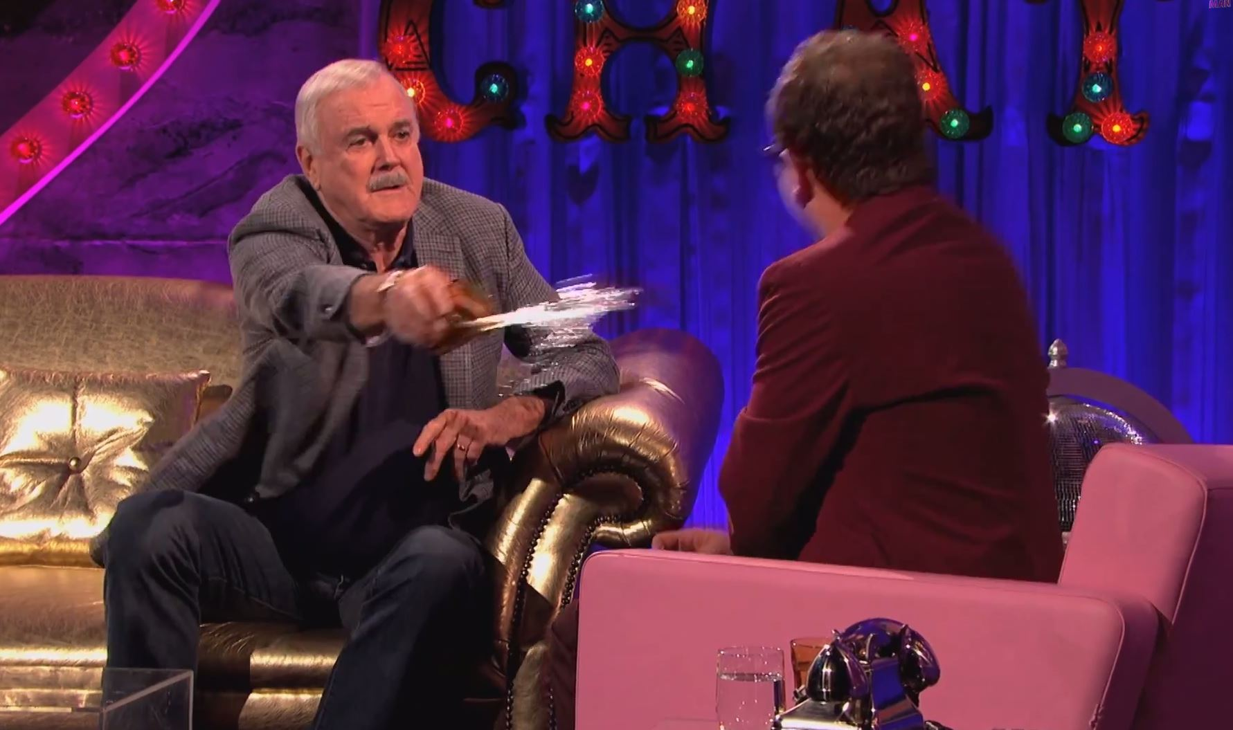 Legal bills, live streaming and throwing drinks over Alan Carr: How to publicise Monty Python's last hurrah according to John Cleese