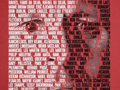 Manchester United commemorate Ryan Giggs' 23-year career with sensational 150 team-mate collage