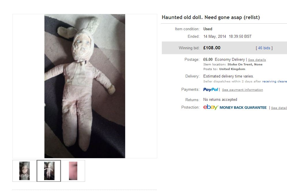 Does anyone want to buy this haunted doll on eBay?