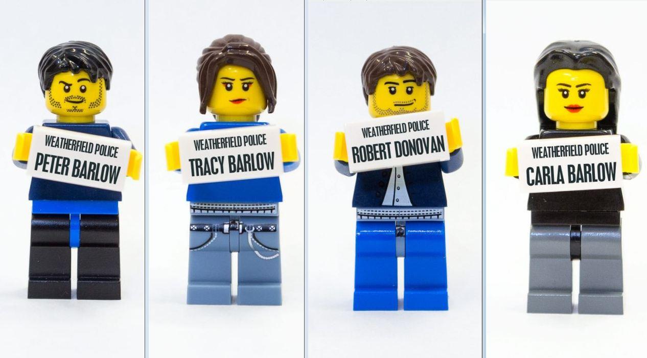 Who dunnit? Lego reconstruction recreates murder of Michelle Keegan's Coronation Street character Tina McIntyre