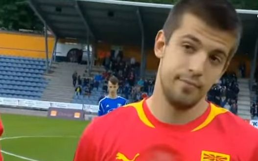 Macedonia players left baffled as PA system screws up anthem